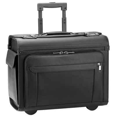 D&N Pilotenkoffer »Business & Travel«, 2 Rollen, Leder
