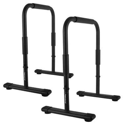 MSports® Liegestützgriffe »MSports® Liegestützgriffe MSPORTS Dip Barren Fitness Parallettes Premium (Paar) 80x65 cm Push Up Stand Bar I Dip Station I Fitness Rack«