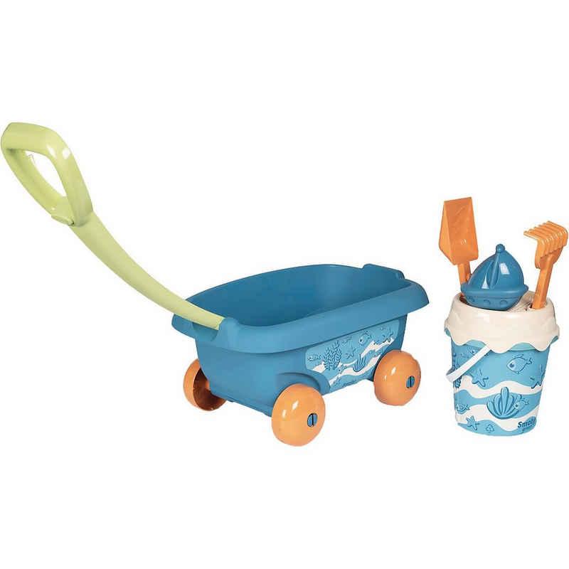 Smoby Sandform »Green Sandspielzeug Handwagen mit Eimergarnitur«