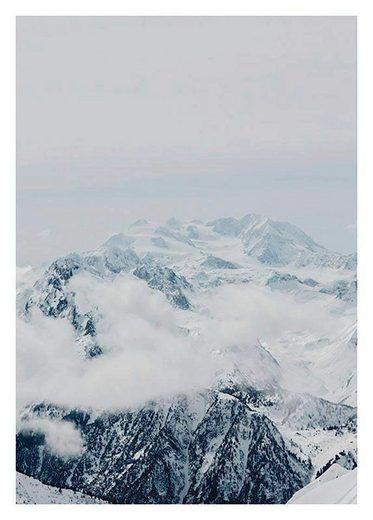 Komar Poster »Mountains Clouds«, Natur, Höhe: 40cm