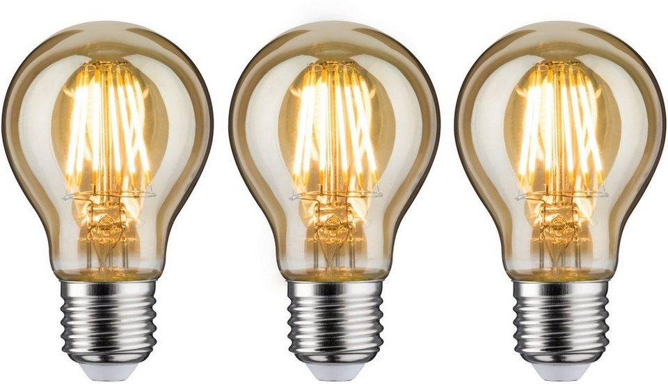 Paulmann 3er Pack 6 W Vintage Agl Goldlicht E27 1700k Led Leuchtmittel E27 3 Stuck Extra Warmweiss Online Kaufen Otto