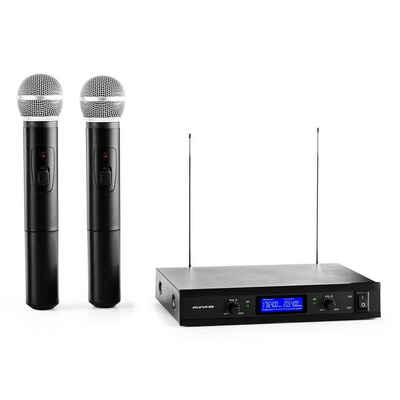 Auna Mikrofon »VHF-400 Duo1 2-Kanal VHF-Funkmikrofon-Set 1x Empfänger + 2x Handmikrofon«
