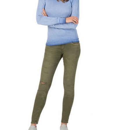 TIMEZONE Regular-fit-Jeans »TIMEZONE Jeans AleenaTZ hinreißende Destroyed-Tights Damen Denim Hose mit Star-Details Freizeit-Hose Khaki«