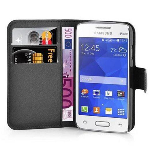 Cadorabo Handyhülle »Hülle case cover für« Samsung Galaxy ACE 4 LITE, Magnetverschluss, Standfunktion und Kartenfach, Kunstleder, Klapphülle