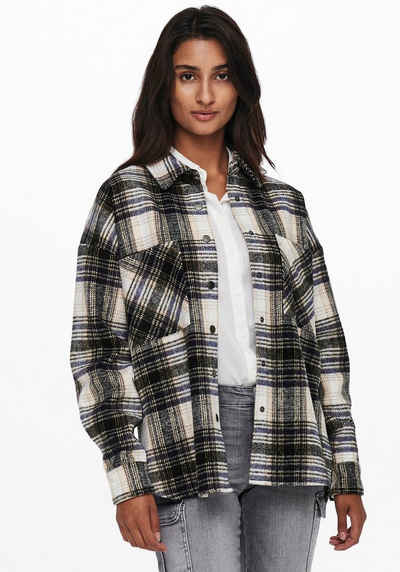 Only Hemdjacke »ONLPIA L/S PLAIDED SHACKET« in Oversize Form