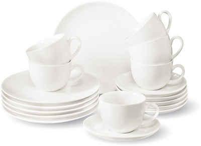 vivo Villeroy & Boch Group Kaffeeservice »New Fresh Basic« (18-tlg), Porzellan, ideal zum Kombinieren