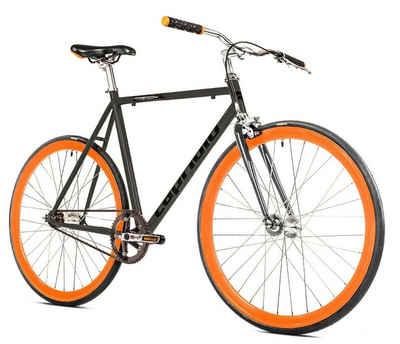 breluxx Cityrad »Singlespeed 700C/1, 28 Zoll Fixie Singlespeed Fastboy CityBike - graphite«, 1 Gang, ohne Schaltung