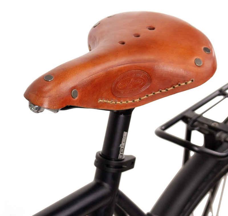 Gusti Leder Fahrradsattel »Bernard H.«, Ledersattel Vintage Retro Damen Herren