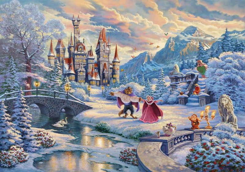 Schmidt Spiele Puzzle »Disney, Die Schöne und das Biest, Zauberhafter Winterabend«, 1000 Puzzleteile, Limited Christmas Edition