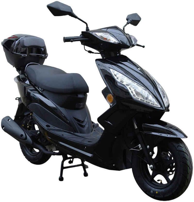 GT UNION Motorroller »GT3«, 50 ccm, 45 km/h, Euro 5, (Set), mit Topcase