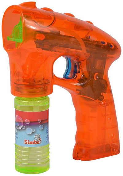 SIMBA Seifenblasenpistole, mit Licht-Effekt und 55 ml Lauge