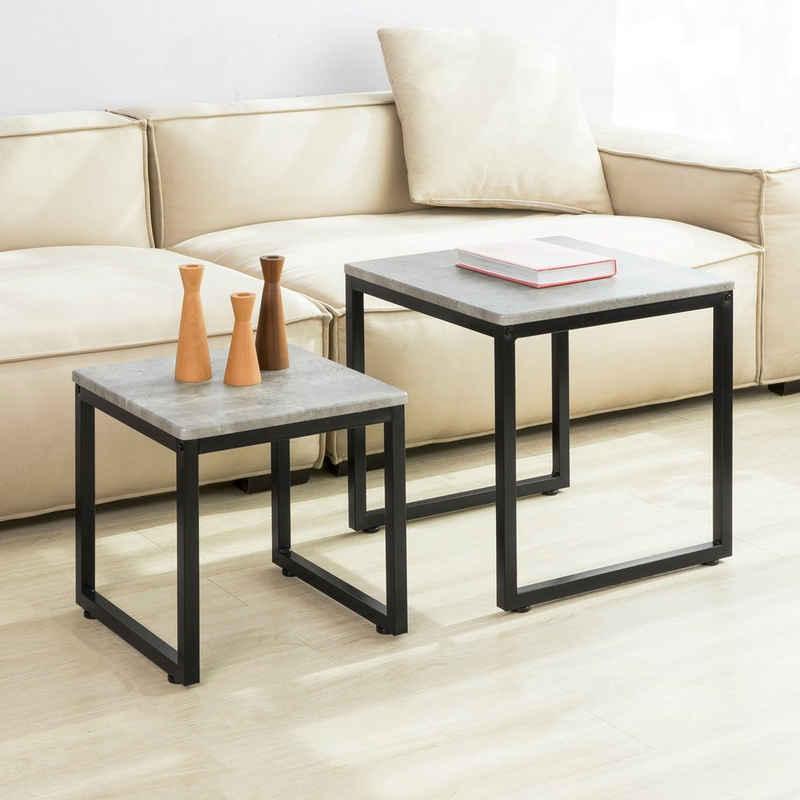 SoBuy Satztisch »FBT42/FBT35«, 2er Set Couchtisch Beistelltisch 2-teilig Satztisch Sofatisch Kaffeetisch Tisch-Set