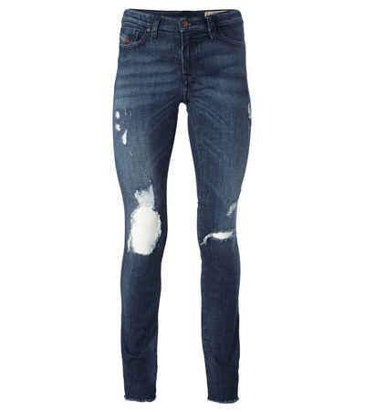 Diesel Regular-fit-Jeans »DIESEL Skinzee Slim Fit Jeans bequeme Damen Stretch-Hose im Used-Look Freizeit-Hose Blau«