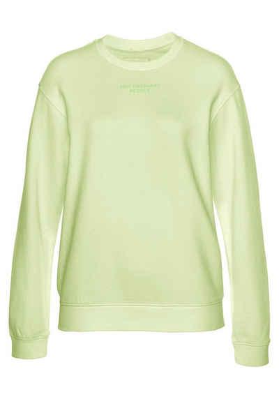 Replay Sweatshirt lässiger Sweater mit großem Logo Print auf der Rückseite