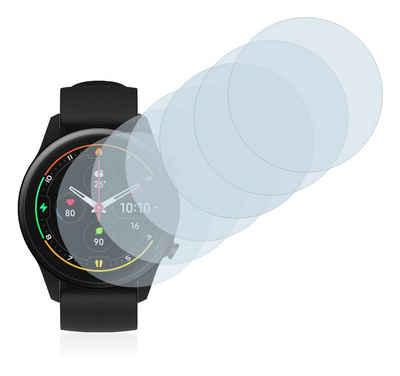 Savvies Schutzfolie »für Xiaomi Mi Watch 2021«, (6 Stück), Folie Schutzfolie klar