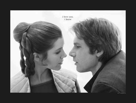 Komar Poster »Star Wars Classic Leia Han Love«, Star Wars