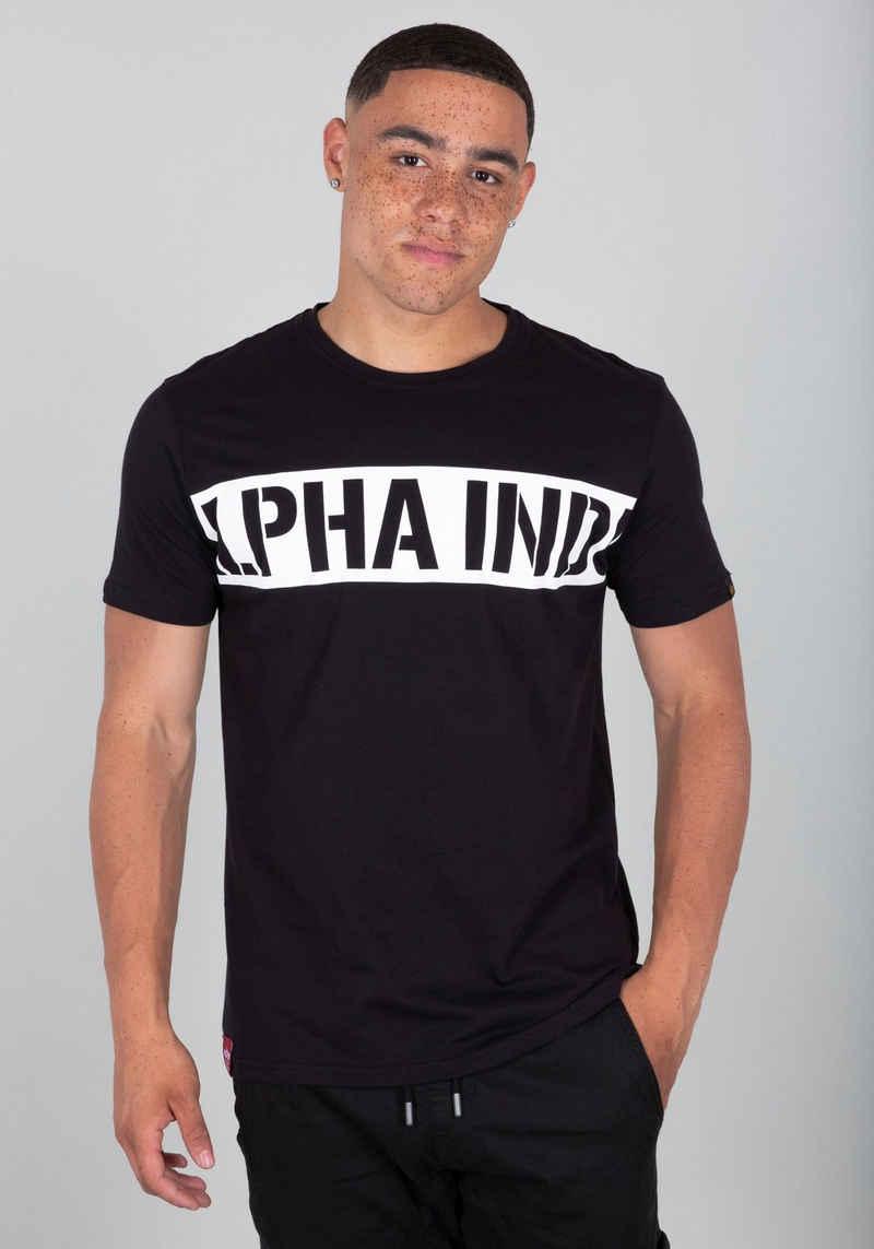 Alpha Industries Rundhalsshirt »Printed Stripe Tee«