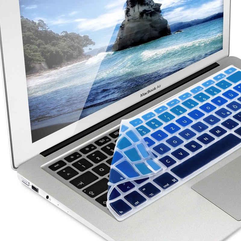 kwmobile Aufbewahrungstasche, Tastaturschutz für Apple MacBook Air 13''/ Pro Retina 13''/ 15'' (bis Mitte 2016) - QWERTZ Silikon Laptop Abdeckung