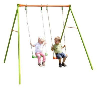 Metall Doppelschaukel für zwei Kinder*