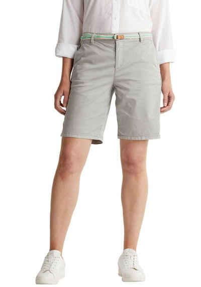 Esprit Shorts (mit Gürtel) im washed Look