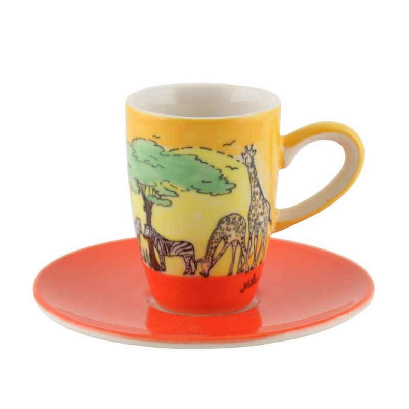 Mila Espressotasse »Mila Keramik Espresso-Tasse mit Untere Afrika«, Keramik