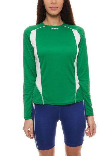 Craft Funktionsshirt »Craft Thermo-Langarm-Shirt elastisches Damen Fitness-Shirt Sport-Shirt Grün«