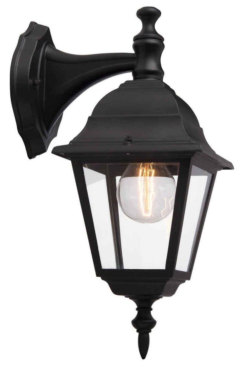 Brilliant Leuchten Außen-Wandleuchte »Newport«, Außenwandlampe hängend schwarz