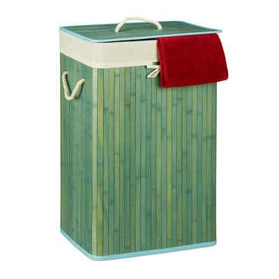 relaxdays Wäschekorb »Wäschekorb Bambus eckig«