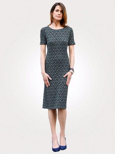 Mona Strickkleid mit grafischem Jacquard-Muster
