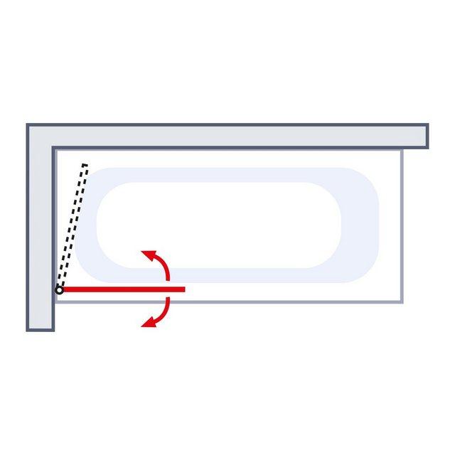 Badewannen und Whirlpools - Schulte Badewannenfaltwand »Komfort«, Einscheibensicherheitsglas, (1 tlg), Breite 80 cm  - Onlineshop OTTO