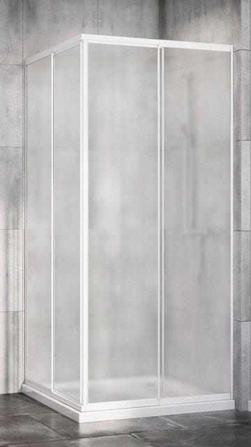 Duschen und Zubehör - Red Shark Eckdusche »Multi Duschkabine Eckeinstieg«, Acrylglas, variabler Verstellbereich 80 90cm, weiß  - Onlineshop OTTO