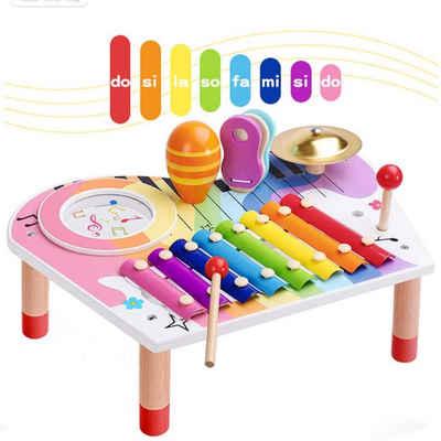 BeebeeRun Spielzeug-Musikinstrument »Musikspielzeug Baby«, (Harmonisches Xylophon für Kinder aus Holz), Hölzerne Sensorik, Musikinstrument für Mädchen und Jungen ab 3 Jahren
