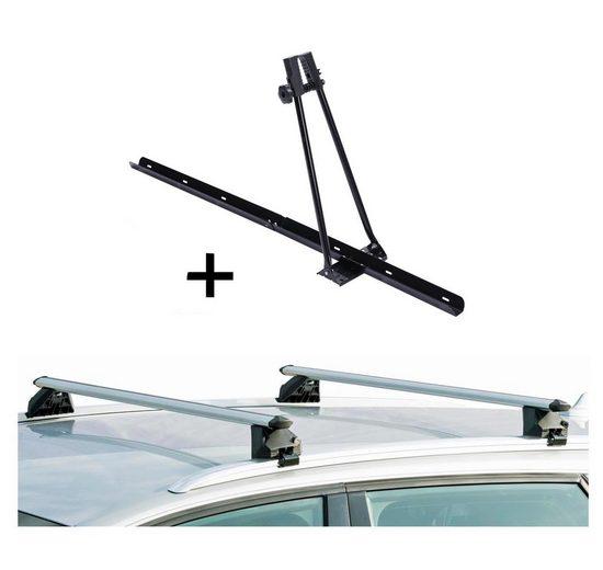 VDP Fahrradträger, Fahrradträger ORION + Relingträger CRV120A kompatibel mit Subaru Impreza Kombi 93-10