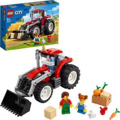 LEGO® Konstruktionsspielsteine »Traktor (60287), LEGO® City«, (148 St), Made in Europe