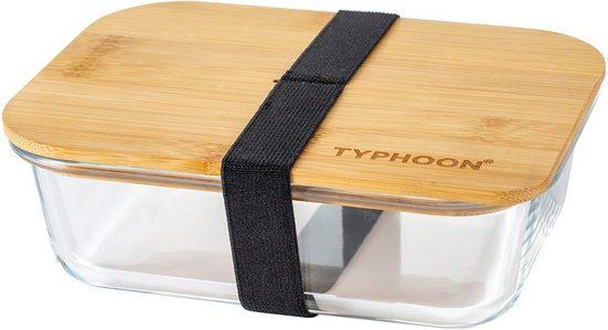 Typhoon Lunchbox »PURE«, Borosilikatglas, Bambus, (1-tlg), mit Holzdeckel, spülmaschinengeeignet, 1000 ml
