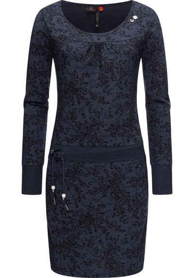 Ragwear Druckkleid »Penelope Print Intl.« Langärmliges Baumwoll Kleid mit Print