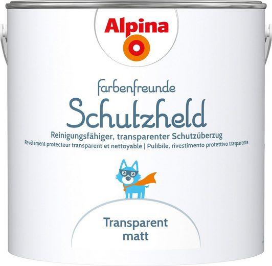 ALPINA Wand- und Deckenfarbe »Farbenfreunde Schutzheld Schutzüberzug«, Transparent, matt, 2,5 l