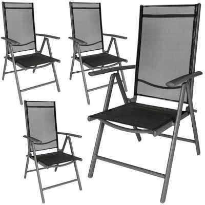 tectake Gartenstuhl »4 Aluminium Gartenstühle«