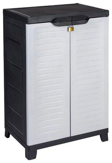 Kreher Mehrzweckschrank »Elite« B/T/H: 65x45x97 cm, 2 Einlegeböden, Kunststoff
