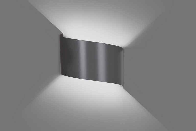 Licht-Erlebnisse Wandleuchte »VERITAS«, Up & Down Lampe Wandleuchte Metall indirektes Licht Treppe Flur Lampe
