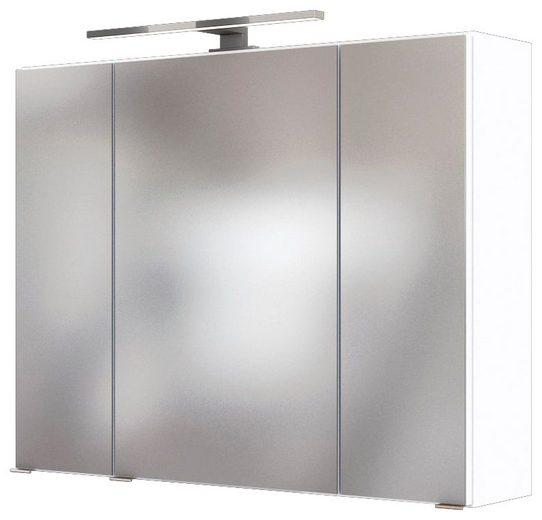 HELD MÖBEL Spiegelschrank »Baabe« Breite 80 cm, mit 3D-Effekt, dank 3 Spiegeltüren