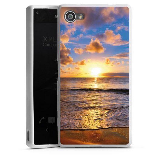 DeinDesign Handyhülle »Strand« Sony Xperia Z5 Compact, Hülle Meer Sonnenuntergang Urlaub