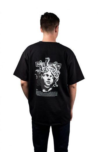 """EMPIRE-THIRTEEN Oversize-Shirt »OVERSIZED SHIRT """"MEDUSA""""« oversize, Heavy Single Jersey, MEDUSA Print auf Rücken"""