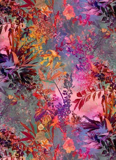 Komar Fototapete »Wild Garden«, glatt, bedruckt, floral, geblümt, (Set), ausgezeichnet lichtbeständig