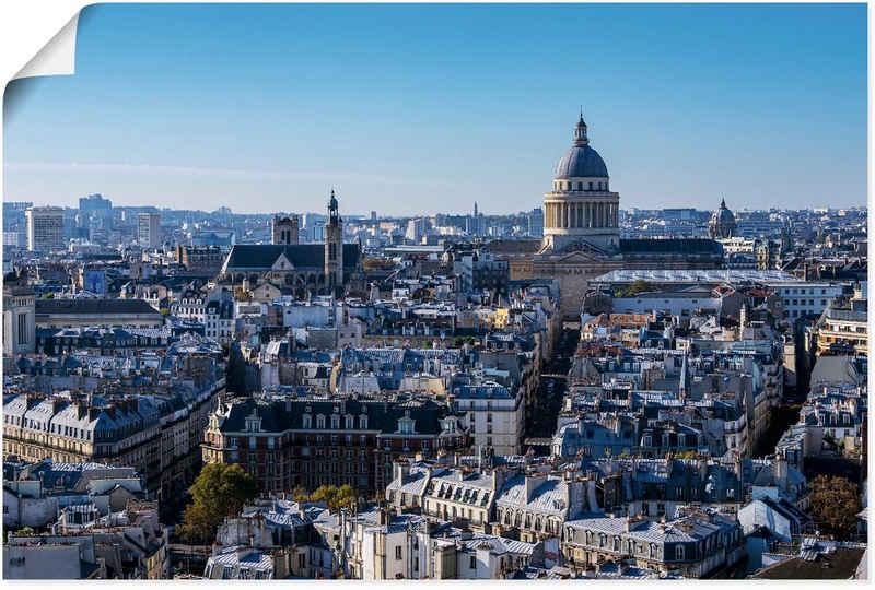 Artland Wandbild »Blick auf das Pantheon in Paris«, Paris (1 Stück), in vielen Größen & Produktarten - Alubild / Outdoorbild für den Außenbereich, Leinwandbild, Poster, Wandaufkleber / Wandtattoo auch für Badezimmer geeignet