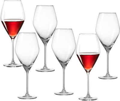 Ritzenhoff & Breker Rotweinglas »Salsa«, Glas, robust und kristallklar, 6-teilig