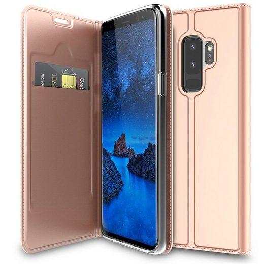 CoolGadget Handyhülle »Magnet Case Handy Tasche« für Samsung Galaxy S9 Plus 6,2 Zoll, Hülle Klapphülle Slim Flip Cover für Samsung S9+ Schutzhülle