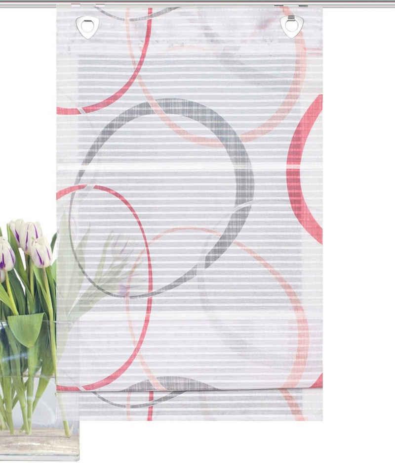 Raffrollo »VITUS«, HOME WOHNIDEEN, mit Ösen, freihängend, Querstreifen Digitaldruck