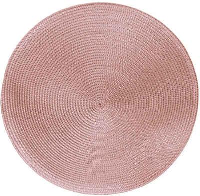 Platzset, »Marrakesch«, Delindo Lifestyle, (4-St), in geflochtener Optik als 4er-Spar Set, abwischbar