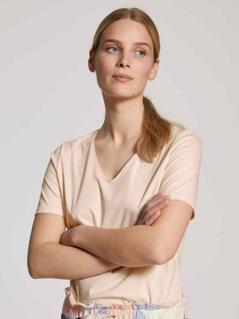 CALIDA Kurzarmshirt »T-Shirt, V-Neck« (1-tlg)